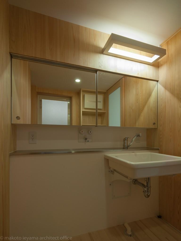 八幡の家 洗面所
