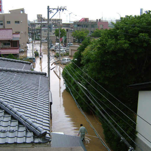 浅野川氾濫