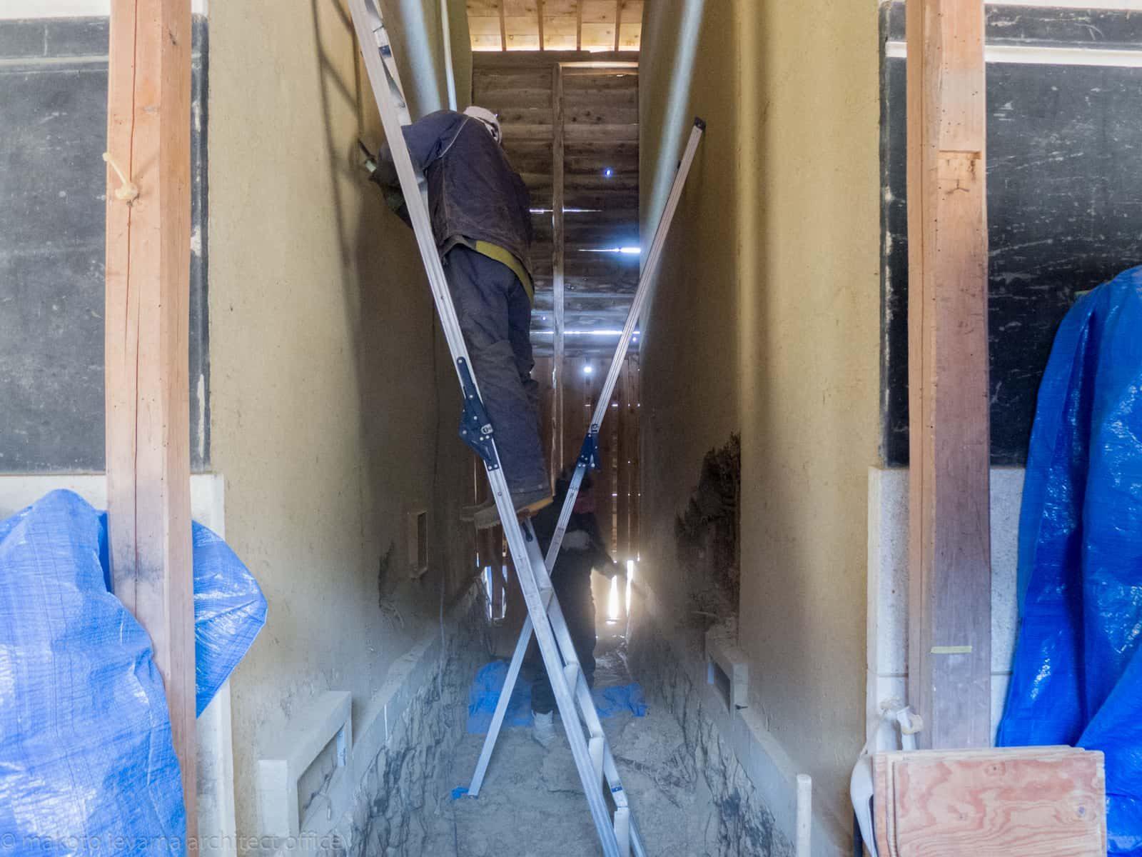 八幡の土蔵 土壁解体