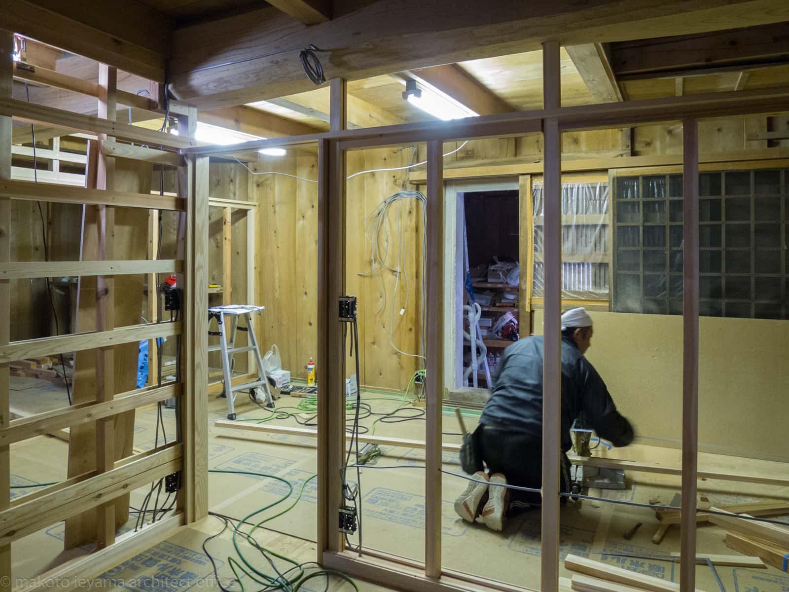 八幡の家 大工工事