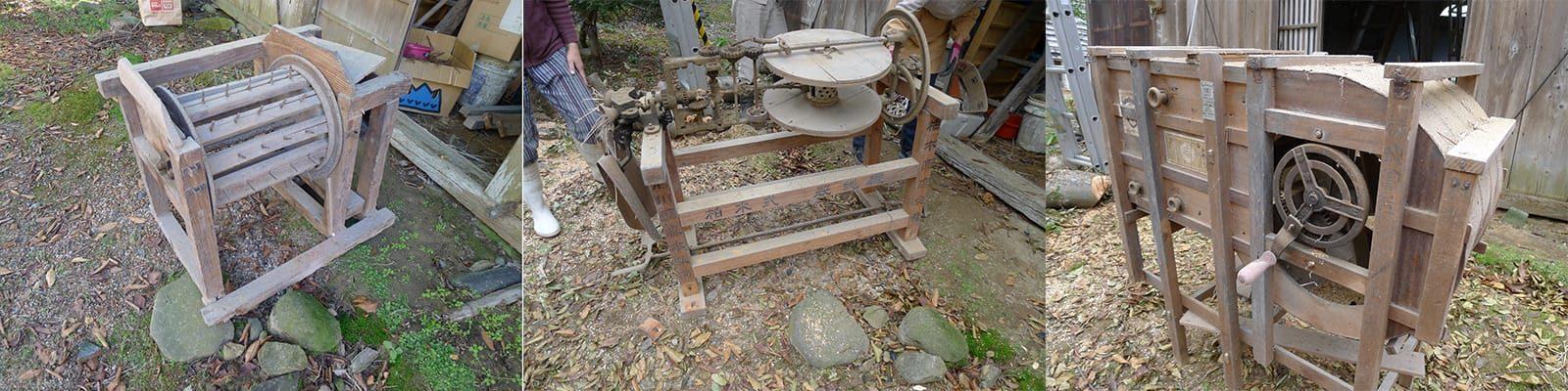 八幡の家 古い農機具