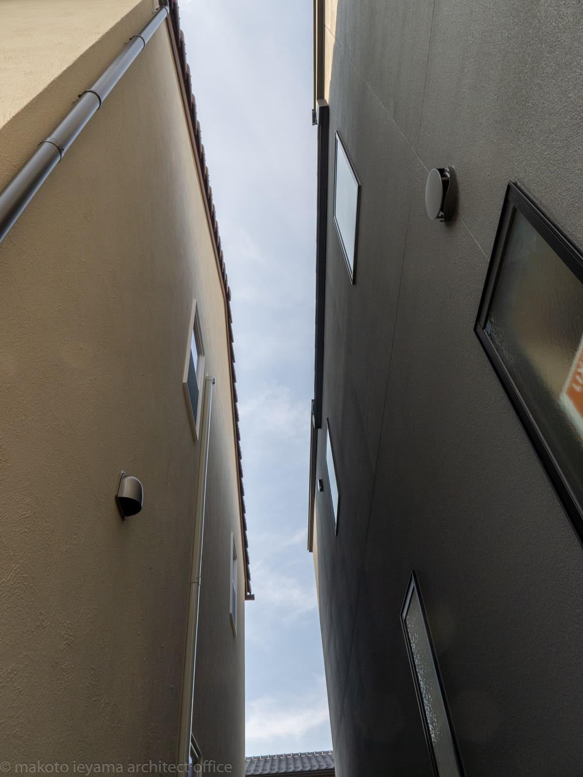 円光寺の家 隣地との隙間