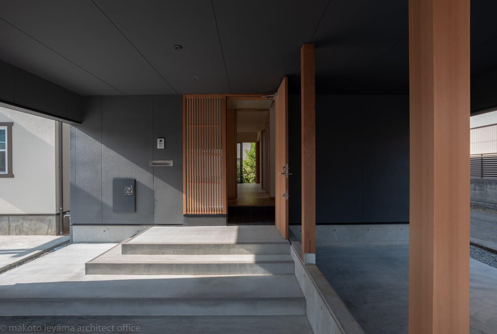 円光寺の家 駐車スペース
