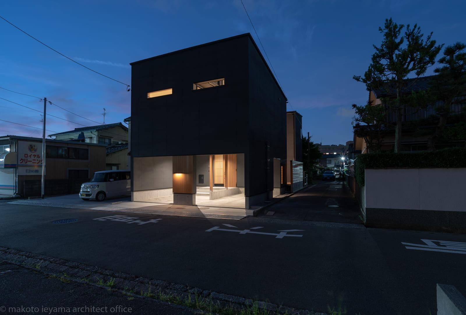 円光寺の家 夜景
