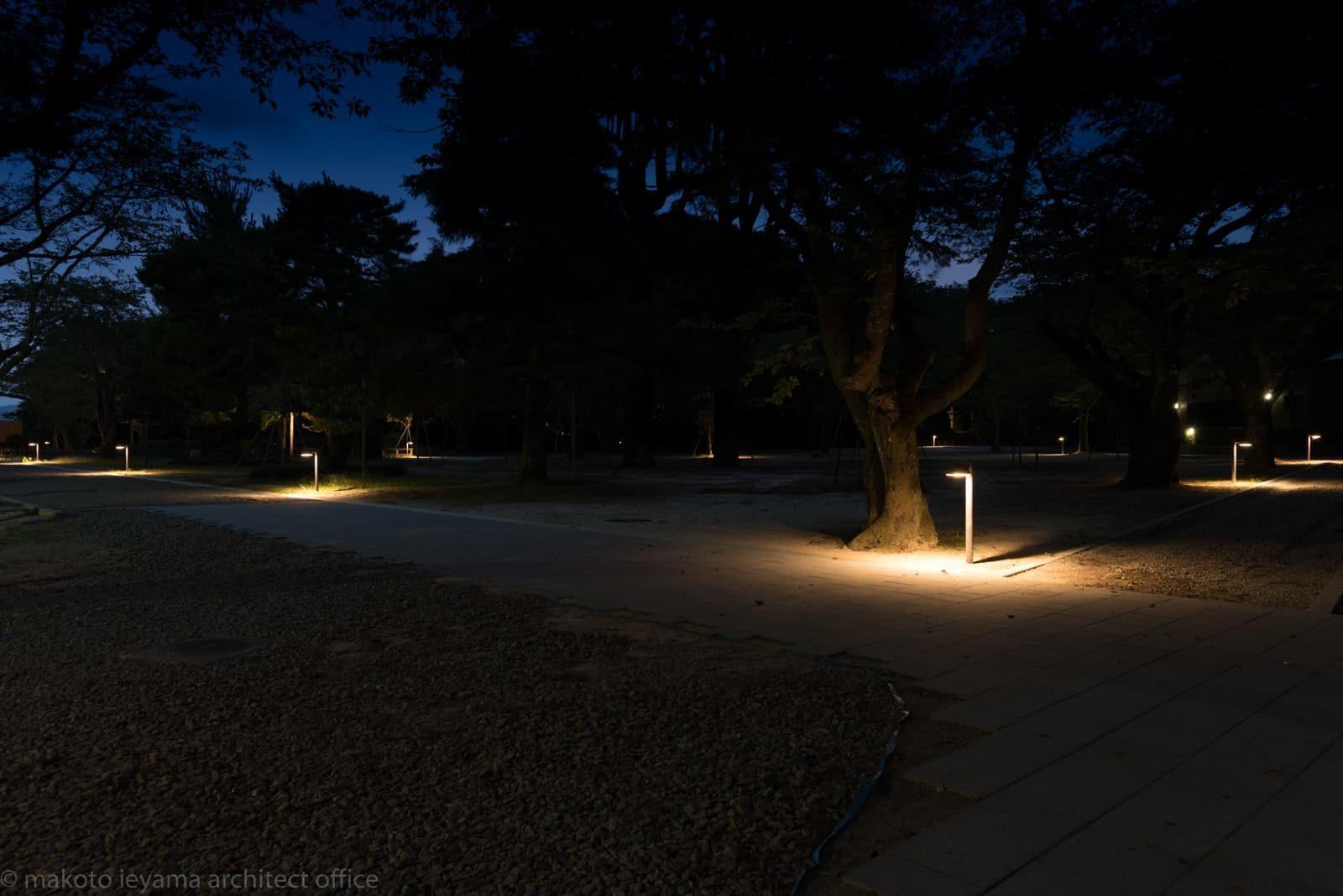 小丸山城址公園 庭園灯夜景