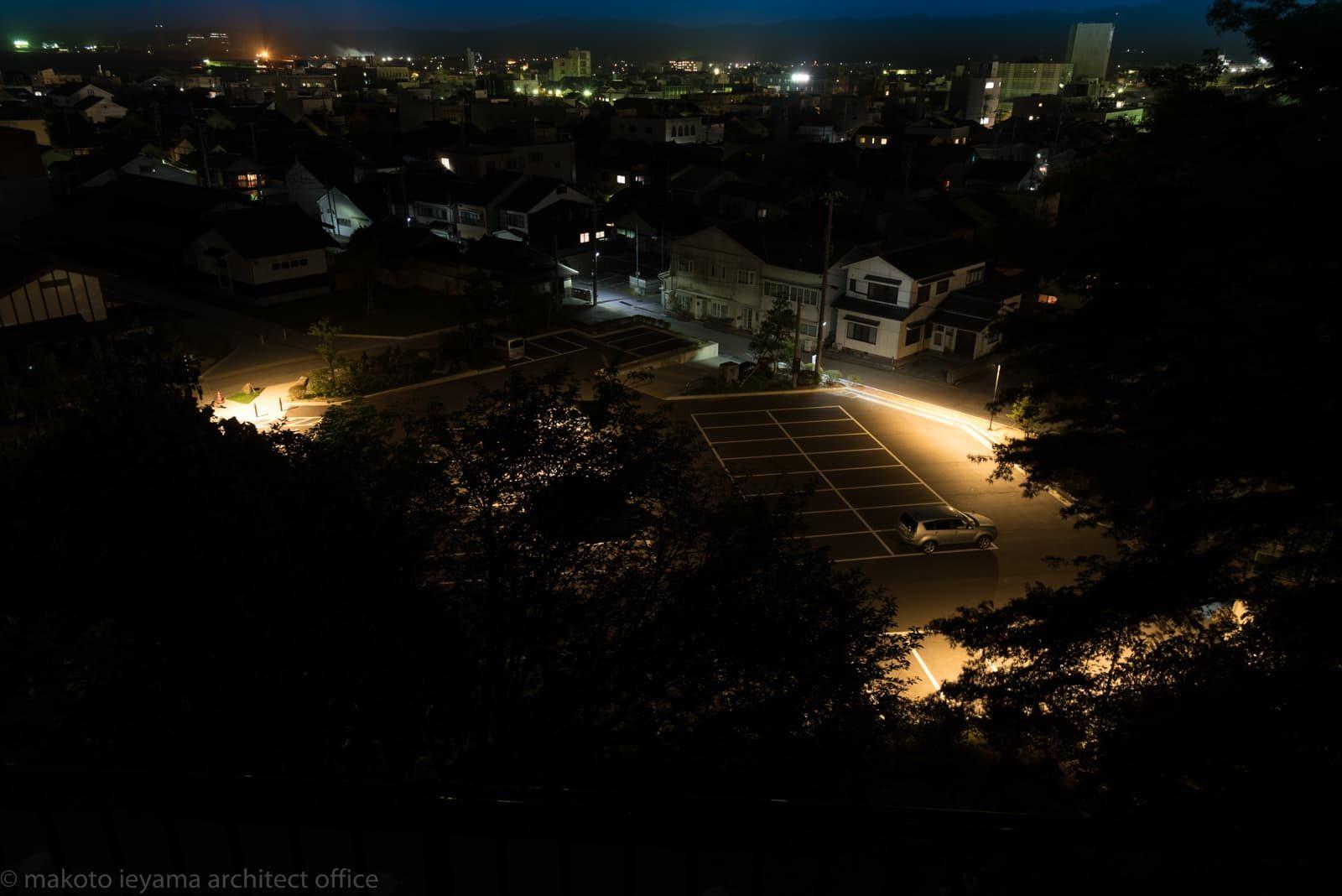小丸山城址公園 駐車場夜景