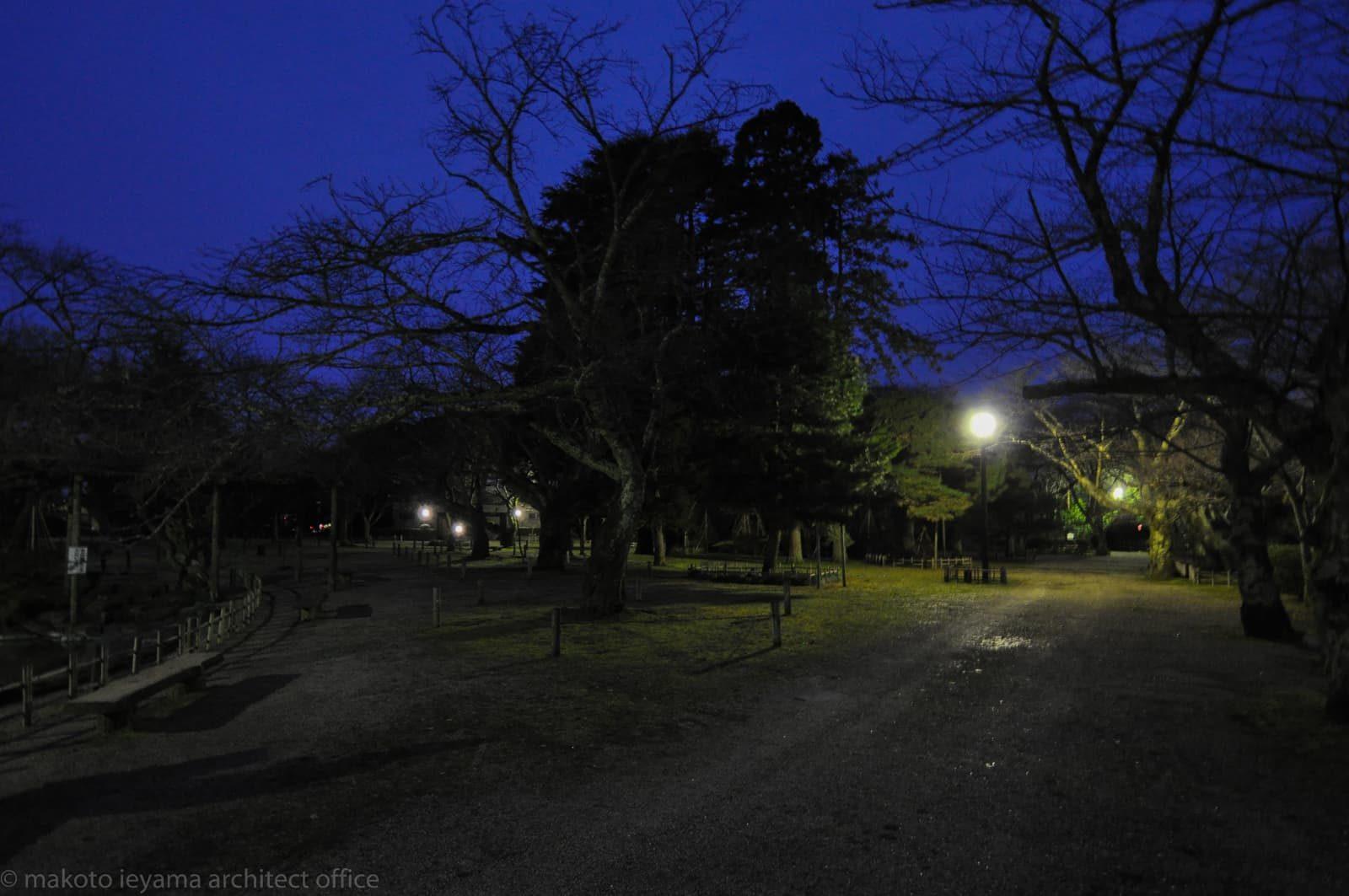 小丸山城址公園 改修前の夜景