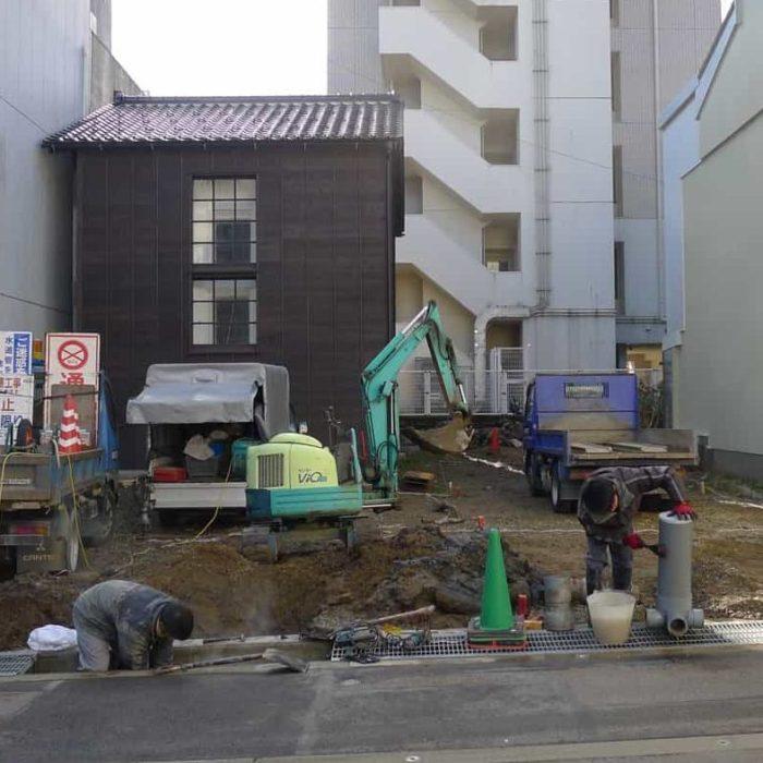 尾張町計画 上下水道引込み工事