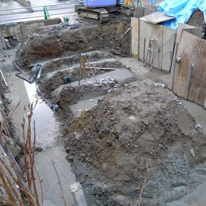 尾張町計画 掘削工事