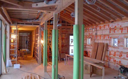 南砺市の家 内装下地工事