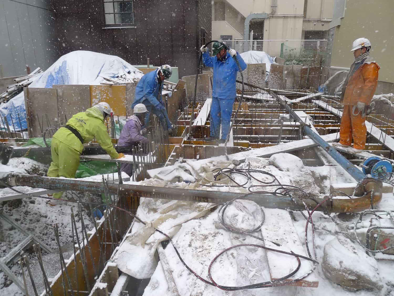 尾張町計画 基礎・地中梁コンクリート打設