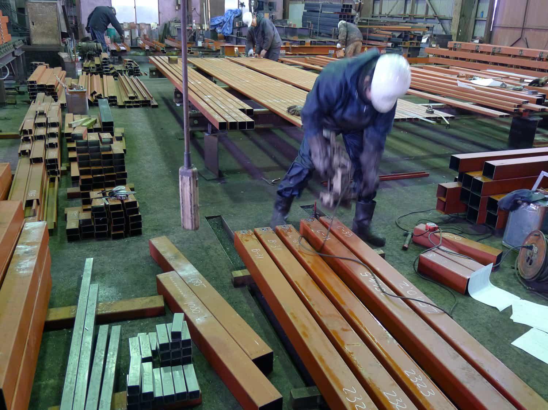 尾張町計画 鉄骨の製品検査