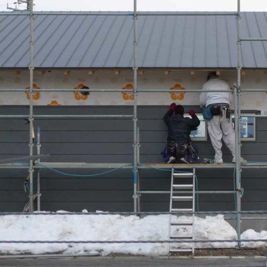南砺市の家 外壁一文字葺き