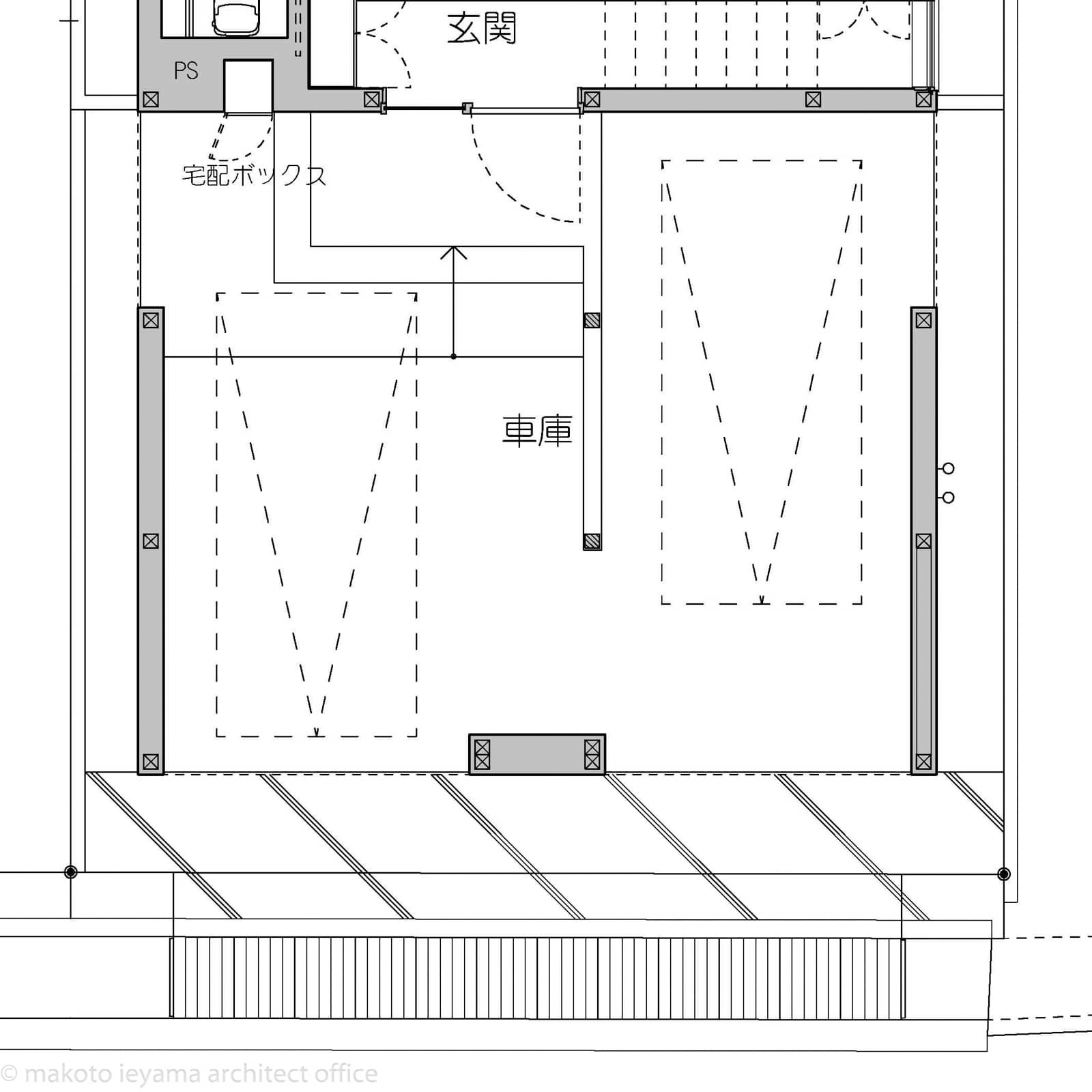 円光寺の家 玄関アプローチ図面